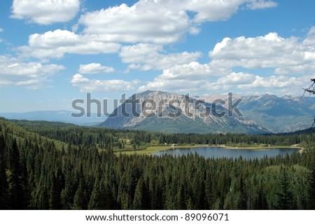 Mountains in Colorado - stock photo