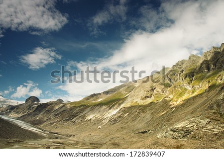 Mountains in Grossglockner region, fotograph made with gradient filter