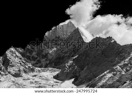 Mountains in Himalaya - stock photo