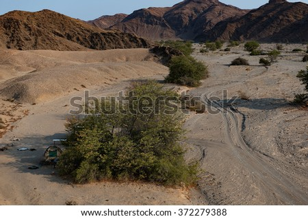 Mountains in Namibia Africa