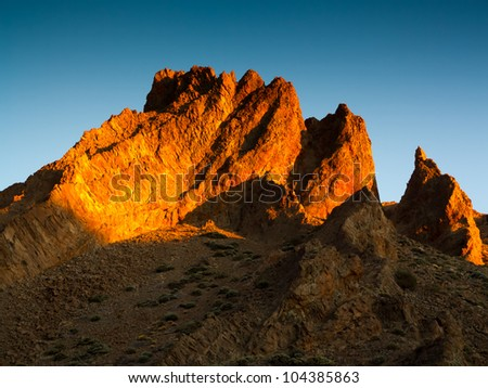 Mountains in Teide National Park, Tenerife