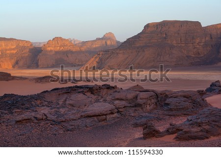 Mountains in the desert - stock photo