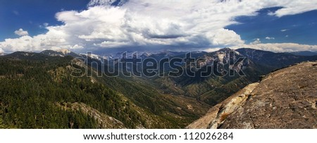 Mountains in the Sierra Nevada. - stock photo