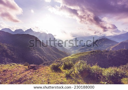 Mountains in Vietnam - stock photo