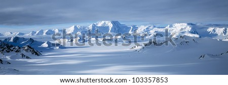 Mountains in Wrangell-St. Elias National Park, Alaska