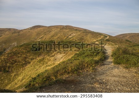 mountains landscape - stock photo
