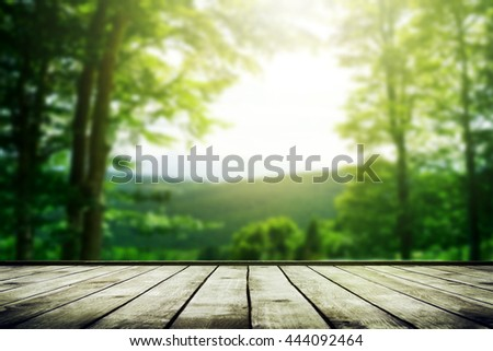 Mountains landscape with sunlight. Beauty nature background - stock photo