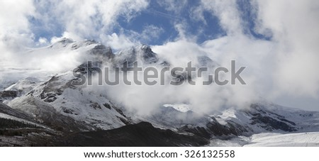 Mountains near Athabasca Glacier, Icefields Parkway, Jasper / Banff national Park, Canada