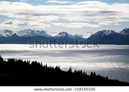 Mountains, Ocean, and Forest Landscape