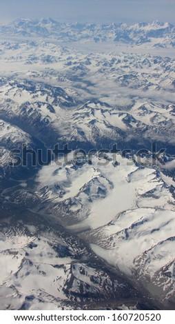 Mountains of Alaska - stock photo