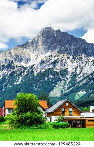 Mountains of  Shtiria, Austria, at summer. Central Alps. - stock photo