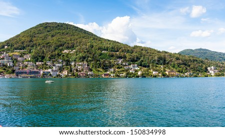 Mountains of the border of Switzerland and Italy, Lake of Lugano