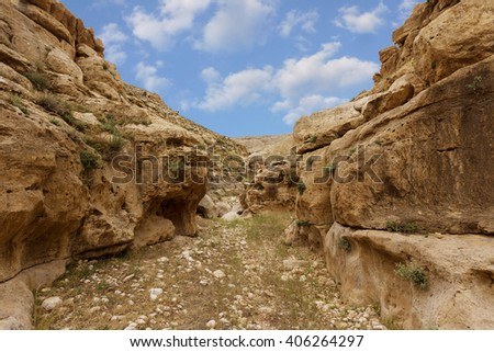 Mountains of the canyon Negev Desert in Israel