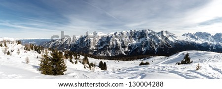 Mountains panorama - stock photo