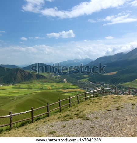 Mountains pastoral - stock photo