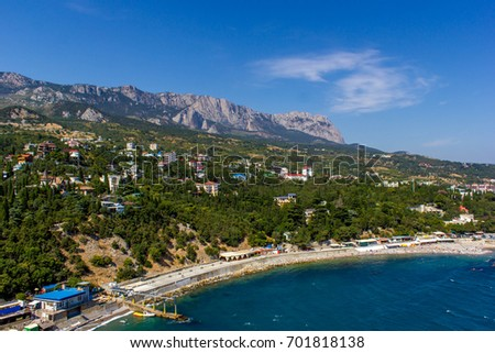 Mountains, sea, Crimea