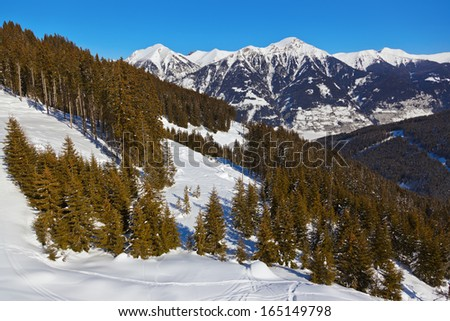 Mountains ski resort Bad Gastein Austria - nature and sport background - stock photo
