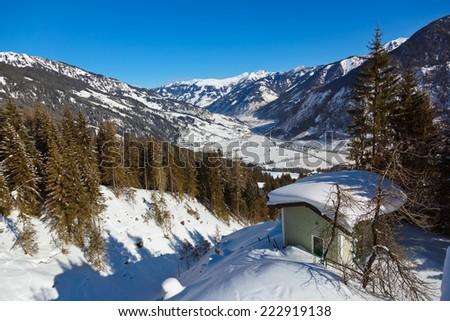 Mountains ski resort Bad Hofgastein Austria - nature and sport background - stock photo