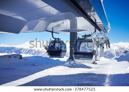Mountains ski resort Caucasus - nature and sport background