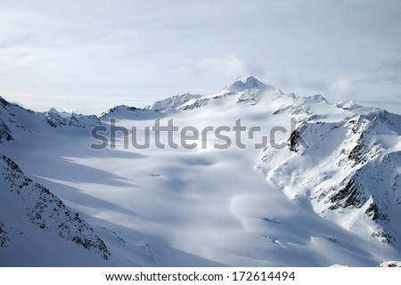 Mountains ski resort Solden Austria - nature and sport - stock photo