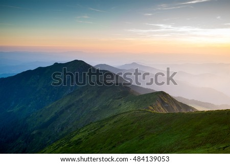 mountainsides, European mountains, beautiful landscape