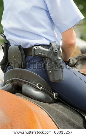 Mounted police - stock photo