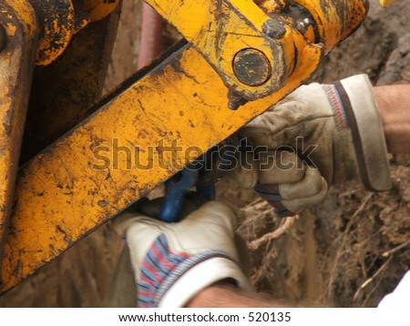 mounting pull strap - stock photo