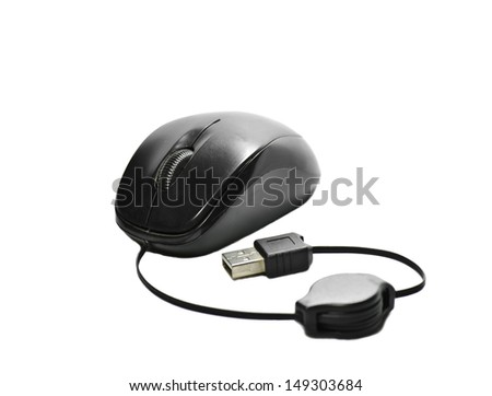 Mouse black white background