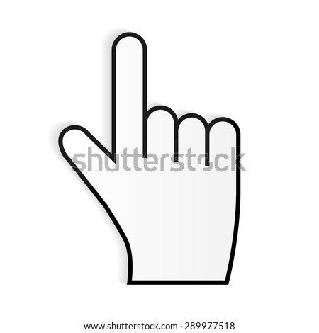 Mouse Hand Cursor  Illustration  - stock photo