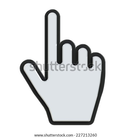 Mouse hand cursor isolated on white - stock photo