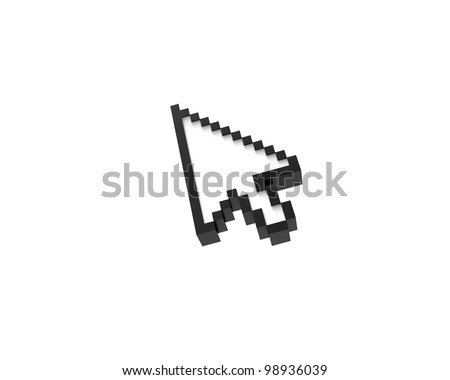 mouse pointer isolated on white background
