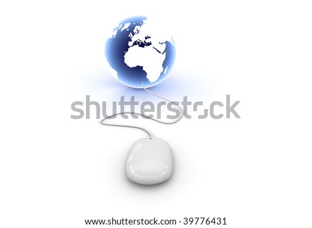 mouse world background - stock photo