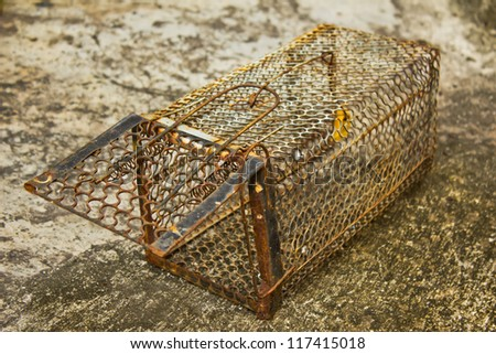Mousetrap Rat cage white background.