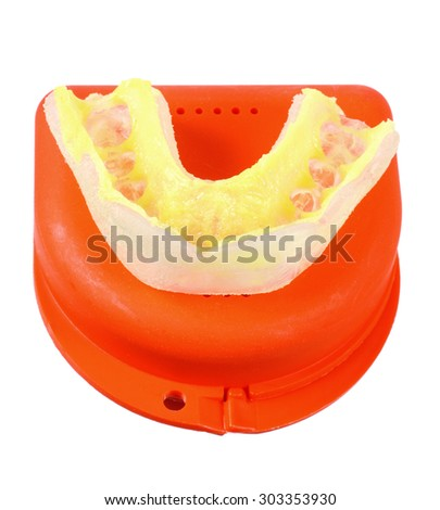 Mouth Guard on White Background - stock photo