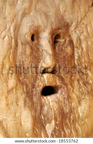 Mouth of truth - stock photo