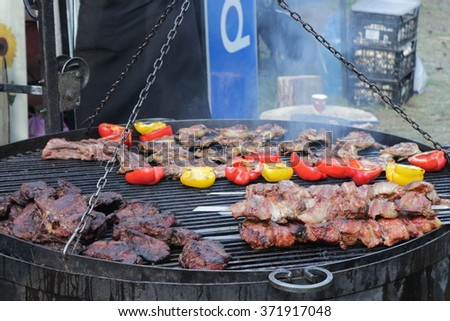 Mouth-watering steaks grilled  - stock photo