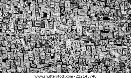 Movable type - stock photo