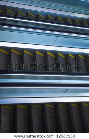Move escalator in modern office centre