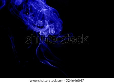 movement of blue smoke,Abstract blue smoke on black background, blue background,blue ink background,beautiful color smoke