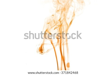 movement of orange smoke,