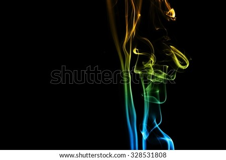 movement of smoke, Abstract blue and orange smoke on black background, smoke background,blue and orange ink background, blue and orange fire