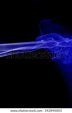 movement of smoke, abstract blue smoke on black background, smoke background ,blue smoke background, blue ink