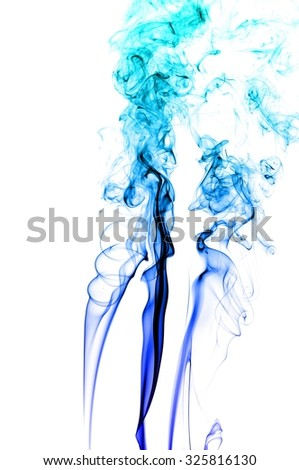 movement of smoke, Abstract Light blue smoke on white background, Light blue background,Light blue ink background