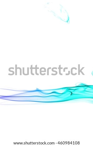 movement of smoke, Abstract Light blue smoke on white background, Light blue background,Light blue ink on white background