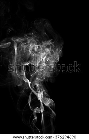 Movement of white smoke