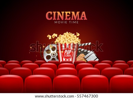 Movie cinema premiere poster design vector stock vector for Film premiere invitation template