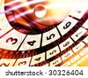Movie count down reel abstract background - stock photo