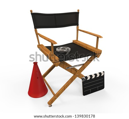 Movie Director Chair - stock photo