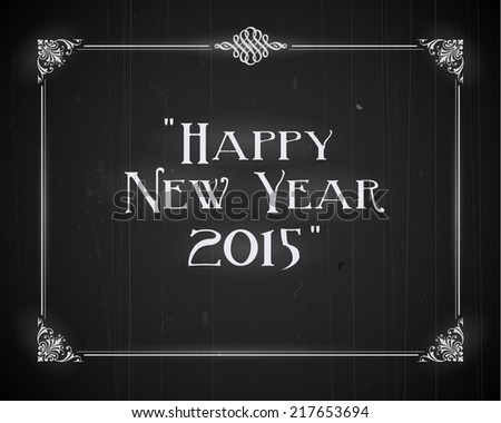Movie ending screen - Happy New Year 2015 - stock photo