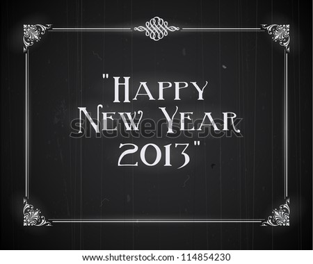 Movie ending screen - Happy New Year 2013 - JPG Version - stock photo